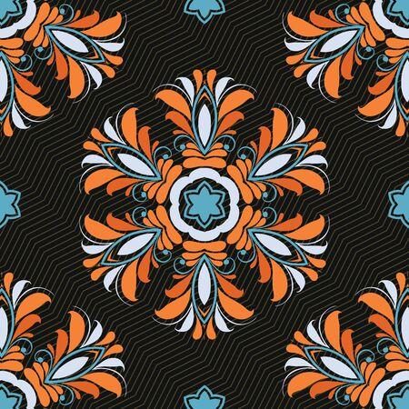 paving tiles: Ornament pattern vector tile for multipurpose use in design Stock Photo