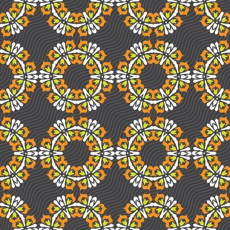 Ornament pattern vector tile for multipurpose use in design