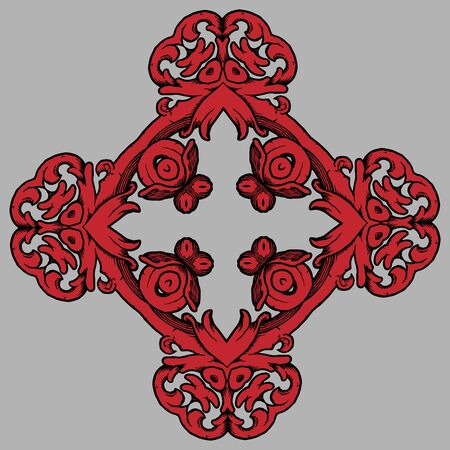 colorized: Colorized hand drawn vector ornament for creative use in design