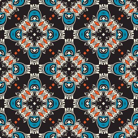 paving tiles: Ornament pattern vector tile for multipurpose use in design Illustration