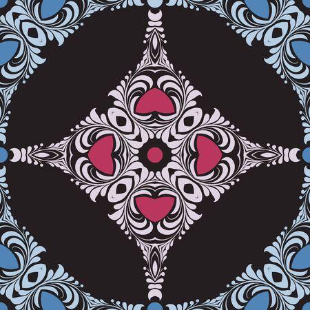 Ornament pattern vector tile for multipurpose use in design Illustration