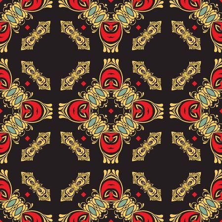 fresco: Ornament pattern vector tile for multipurpose use in design Illustration