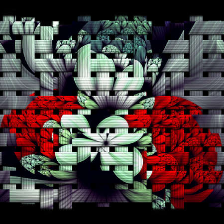 3D rendering of scrambled weave fractal  background Stock Photo