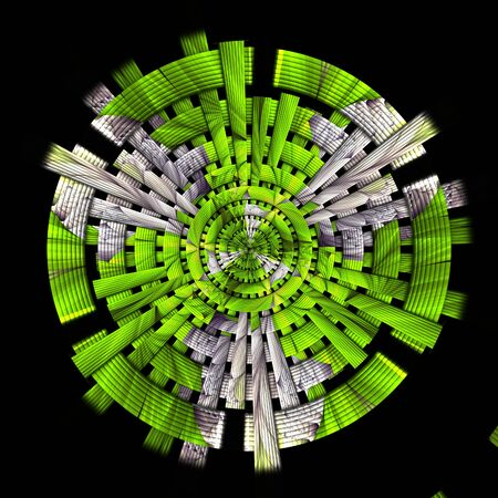 3D rendering of scrambled weave fractal geometric background Stock Photo