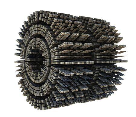 3D conceptontwerp geeft van de bouw van het ruimtependelvoertuig die op witte achtergrond wordt geïsoleerd terug Stockfoto - 81506685