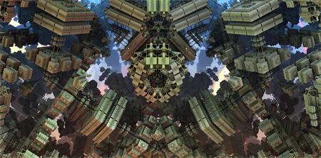 3D teruggegeven illustratie van virtueel landschap voor creatief ontwerp, kunst en vermaak Stockfoto - 81592675