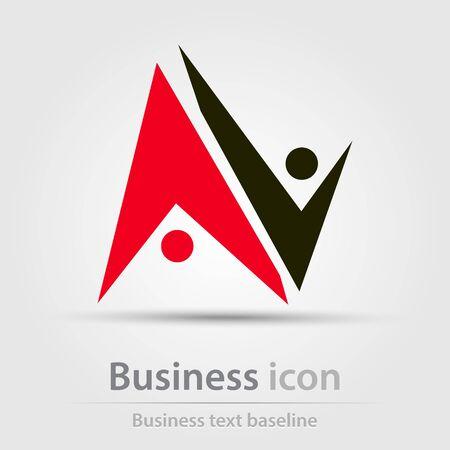 Oorspronkelijk gecreëerd bedrijfs icoon voor creatieve ontwerptaken Vector Illustratie