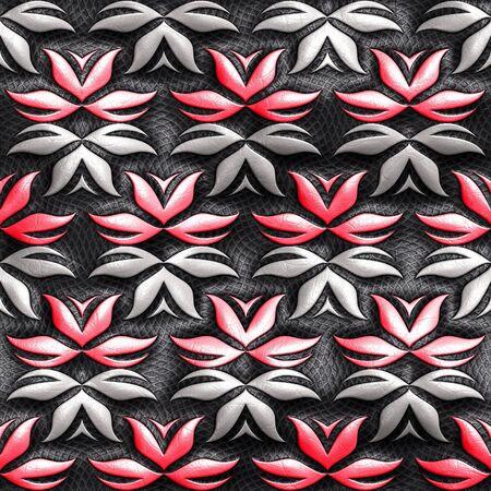 3D render of plastic pattern background seamless leather tile Stok Fotoğraf