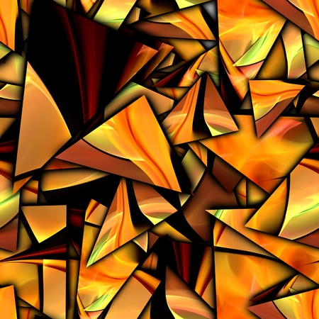 3D render of seamless background with shatter fractal illustration Stock Photo