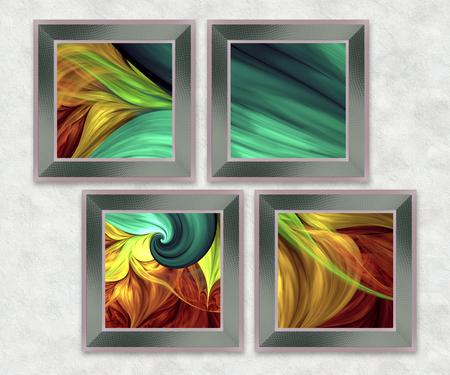 3D Combo multi framed fractal artwork for creative art,design and entertainment
