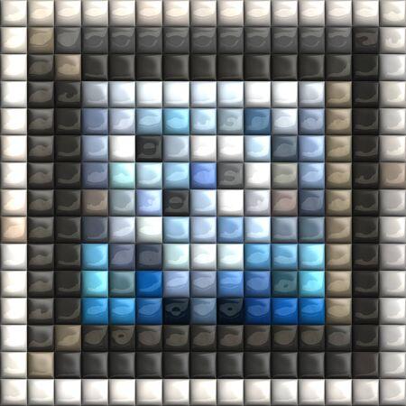 Puff pixels colorful mosaic background