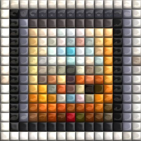 pave: Puff pixels colorful mosaic background