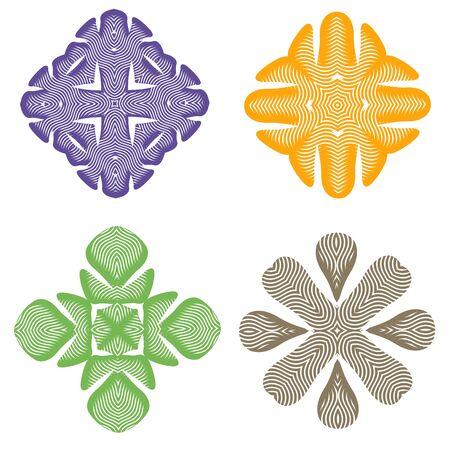 Beautiful colorful ornament for creative design Illustration