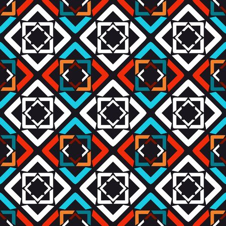 Ornament colorful pattern vector tile for multipurpose use in design.