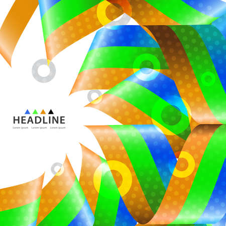 Brochure header colorful layout background template