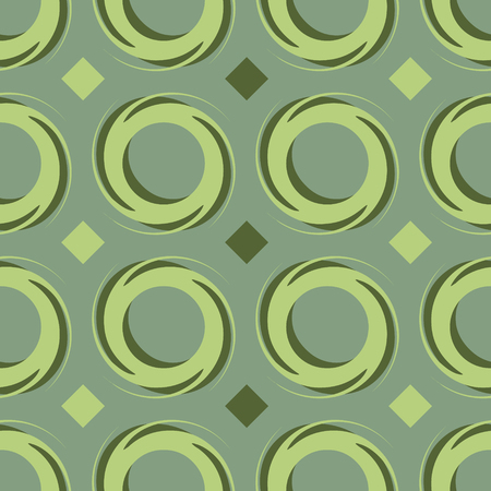 Ornament circular colorful pattern vector tile for multipurpose use in design