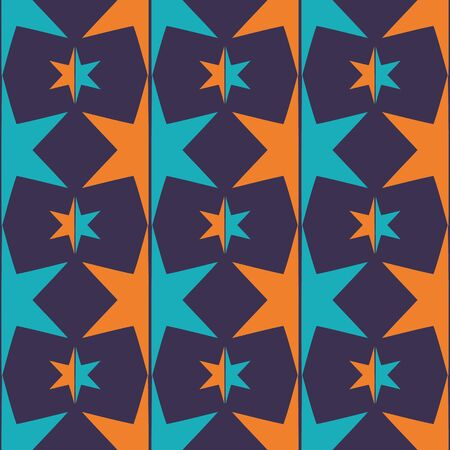 Ornament colorful star pattern vector tile for multipurpose use in design