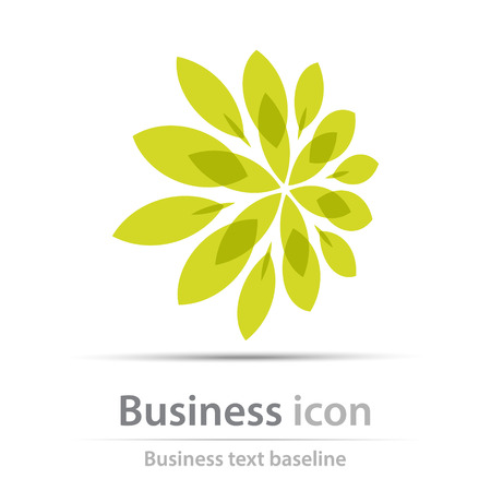 Originally created business floral  icon for creative design tasks Illustration