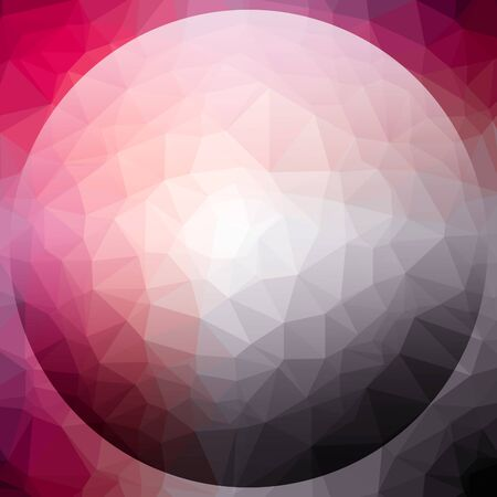 3D render pattern background with colorful polygonal ball