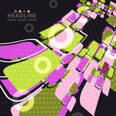 Brochure header colorful rectangular layout background template design