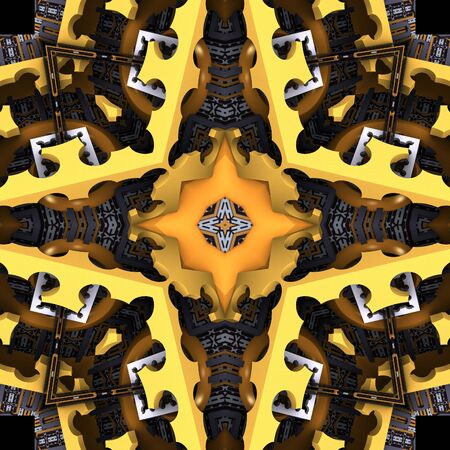 3d render de carreaux en plastique fond avec ornement abstrait en relief Banque d'images - 92014213
