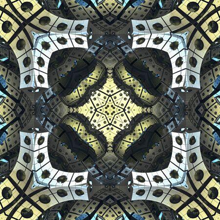 3d render de carreaux en plastique fond avec ornement abstrait en relief Banque d'images - 92014253