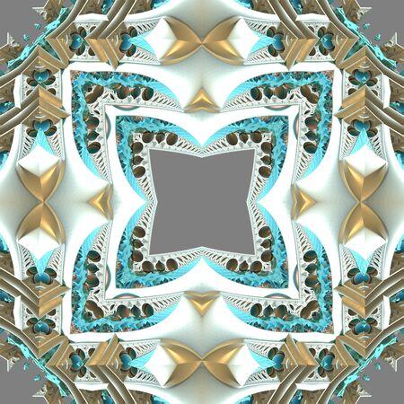 3d render de carreaux en plastique fond avec ornement abstrait en relief Banque d'images - 92014360