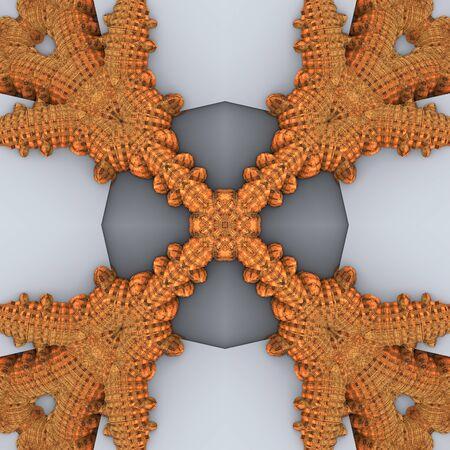 Rendu 3D de tuile de fond en plastique avec ornement abstrait en relief Banque d'images - 92014505
