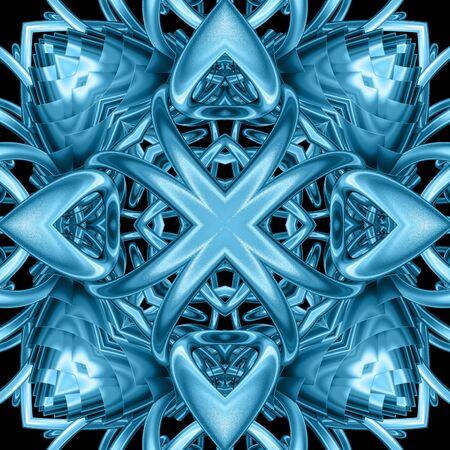 3D geef van plastic tegel als achtergrond met in reliëf gemaakt abstract ornament terug Stockfoto