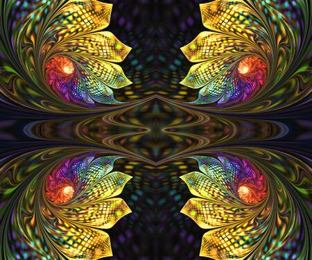 Computer generated fractal artwork for creative design and entertainment