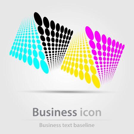 Originally created business icon for creative design tasks Иллюстрация