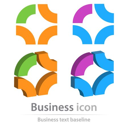 Originally created business icon for creative design tasks Vectores