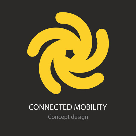 Connected mobility icon concept design