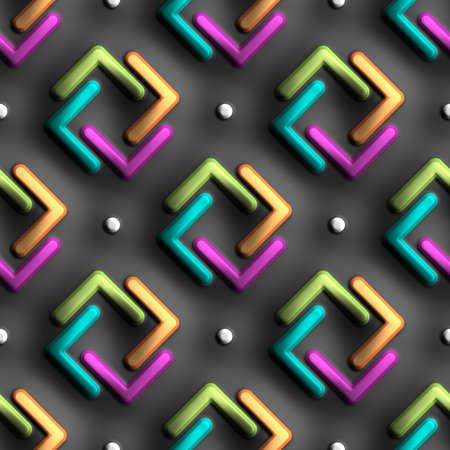 3D rendering of plastic background tile