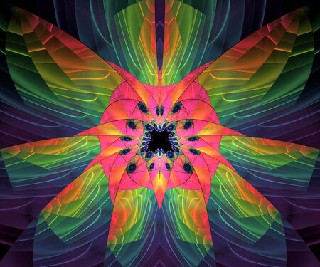 Computer generated colorful fractal artwork for creative design and entertainment