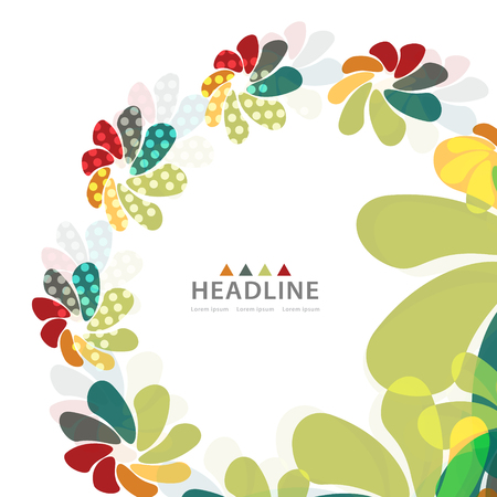 Brochure colorful header layout background template design