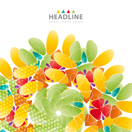 Brochure colorful header background design layout template