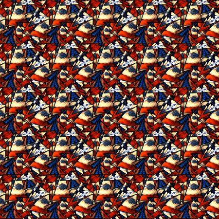 3D render of seamless background template with shatter fractal illustration Imagens