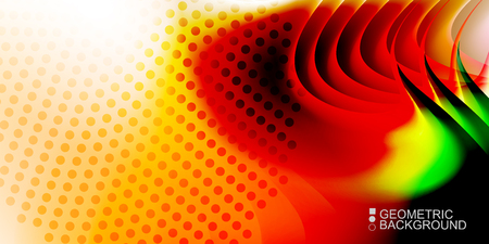 Geometric abstract background with waves in blurred colors Ilustração