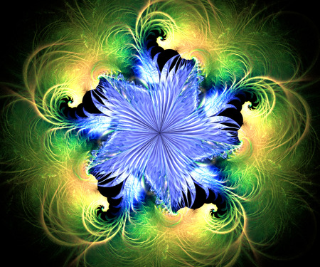 Computer generated colorful fractal artwork for creative art,design and entertainment