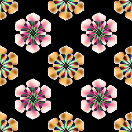 Ornament flower colorful pattern vector tile for multipurpose use in design