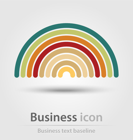 Originally created colorful business icon for creative design tasks