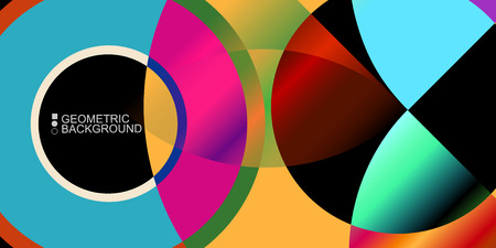 Abstract colorful background template with blended geometric shapes Illusztráció