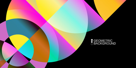 Abstract colorful background template with blended geometric shapes