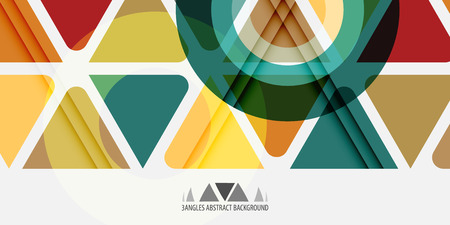 Abstract colorful background template with blended triangle shapes Illusztráció