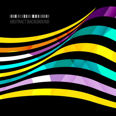 Abstract colorful background template with blended multiple ribbons Illusztráció
