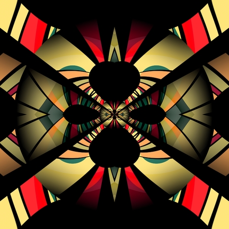 3D render of plastic background seamless tile with embossed abstract colorful pattern symmetry Archivio Fotografico