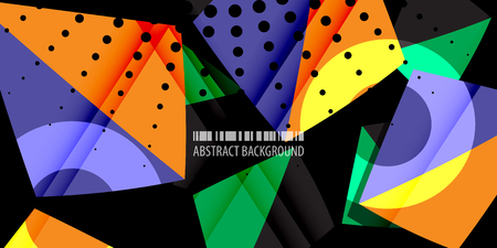 Abstract colorful background graphics template with blended multiple triangles