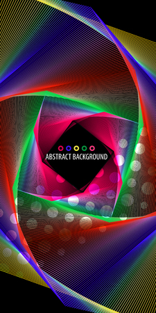 Abstract colorful background graphics template with blended multiple geometric strip objects Illusztráció