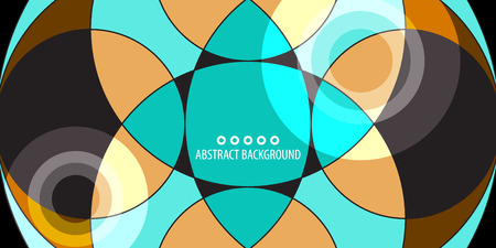 Abstract colorful background graphics template with blended multiple geometric objects